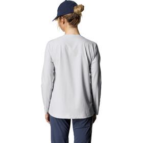 Houdini Cover T-shirt manches longues à col ras-du-cou Femme, ground grey